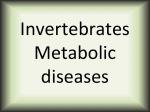Invertebrates metabolic diseases