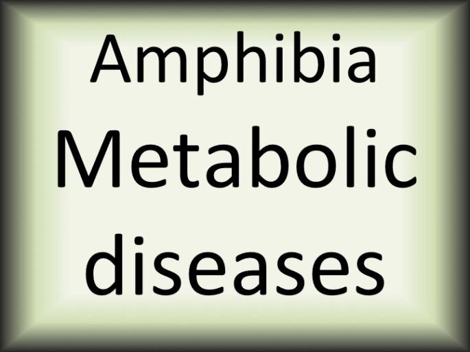 Amphibia metabolic diseases